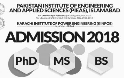 PIEAS Islamabad Online Admission 2018 for BS, MS And Engineering Programs
