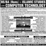 Admission Sheikh Zayed Islamic Center University of Karachi