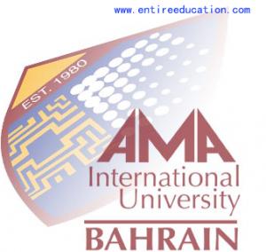 AMA International University Bahrain Logo