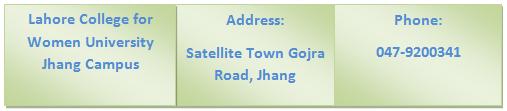 LCWU Jhang Campus Contact