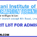 BARANI Institute of Information Technology Rawalpindi BIIT Merit List for Admissions 2019
