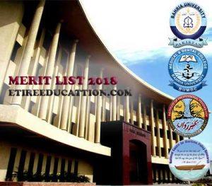 bahria university merit list