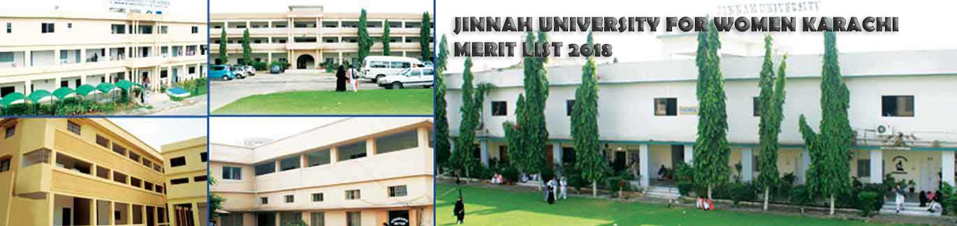Jinnah University for Women Karachi Merit List and Entry test results 2019