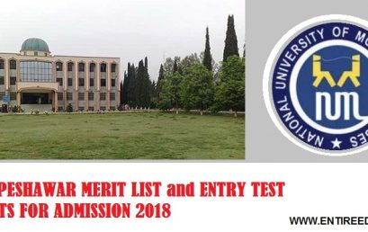 National University of Modern Languages Peshawar Merit List and Entry Test Results for Admissions 2018