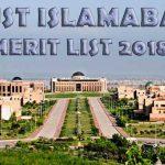 NUST Merit List 2018 For NET-1 Entry Test Results 2018