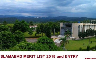 PIEAS University Merit List 2018 and Entry Test Results 2018