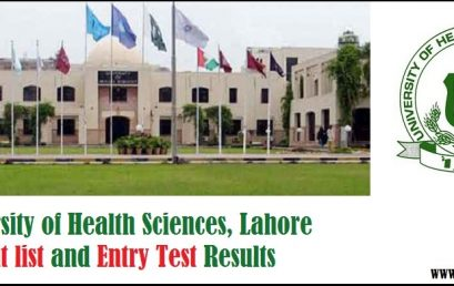 The University of Health Sciences UHS Merit List and Entry Test Results for Postgraduate Admissions 2018