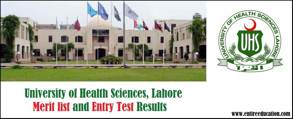 The University of Health Sciences UHS Merit List and Entry Test Results for Postgraduate Admissions 2019
