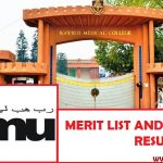 Khyber Medical University Merit List and Entry Test Results for Admissions 2018