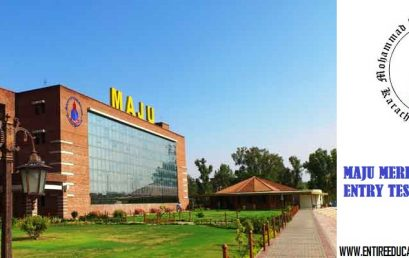 MAJU University Merit List 2019 and Entry Test Result