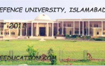 National Defence University Merit List 2019 and Entry Test Result (NDU)