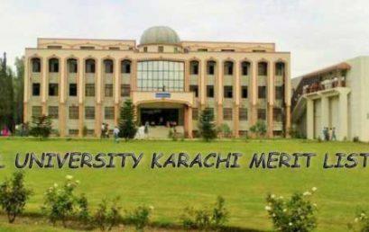 NUML University Karachi Merit List 2018 and Entry Test results.