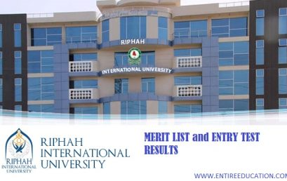 RIPHAH International University Lahore Merit List and Entry Test Results for spring Admissions 2018