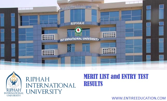 RIPHAH International University Lahore Merit List and Entry Test Results for spring Admissions 2019