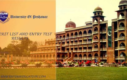 University Of Peshawar Merit List and Entry Test Results for Admissions 2018
