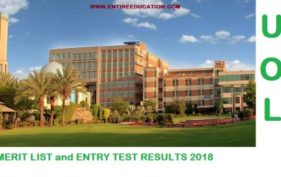 University Of Lahore Merit List 2018 and Entry test results 2018