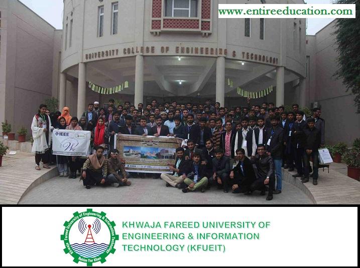 Khawaja Fareed University of Engineering and Information Technology KFUEIT Merit List 2019