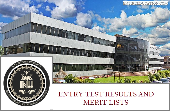 Iqra National University Merit list and Entry Test Results for Admissions 2018