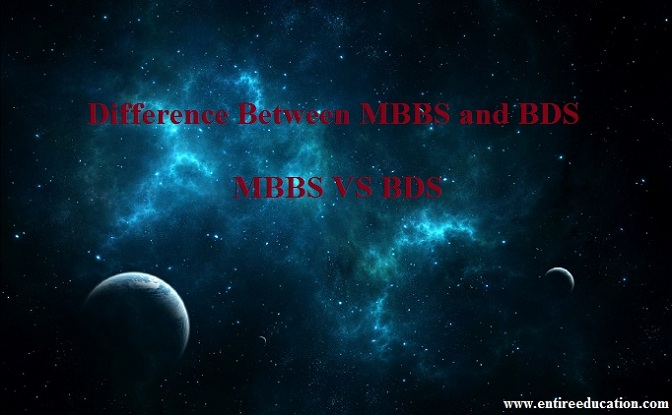 Difference Between MBBS and BDS for Medical Students Of FSc Pre Medical
