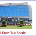 City University of Science and Technology CUSIT Merit List and Entry Test Results for admissions 2018