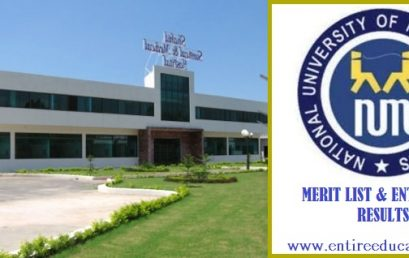 NUML Hyderabad Merit List and Entry Test Results for admissions 2018