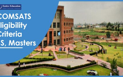 COMSATS University Eligibility Criteria 2018 for Undergraduate, Masters, PhD