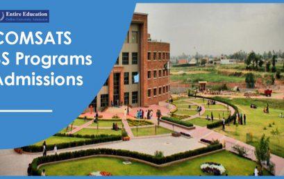 COMSATS University Undergraduate Programs 2018 Online Admission Form, Procedure