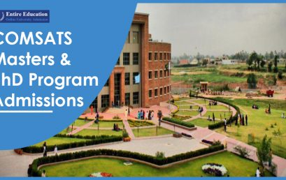 COMSATS University Masters and PhD Programs 2019 for Students